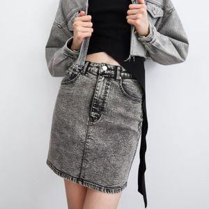 NWOT • Zara • Washed Effect Mini Skirt